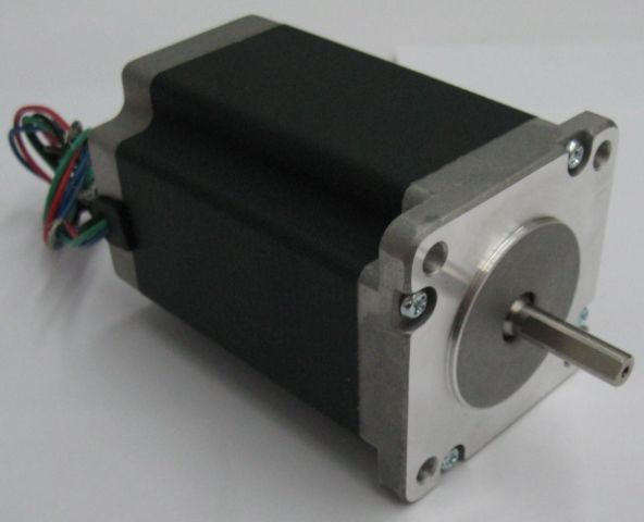 387 Oz-in NEMA 24 Stepper Motor (Dual Shaft) - Click Image to Close