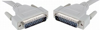 2 metre DB25 Male to DB25 Male printer port cable