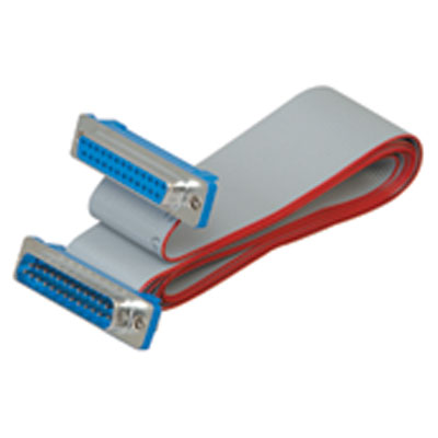 Female DB 25 to Male DB 25 Ribbon Cable